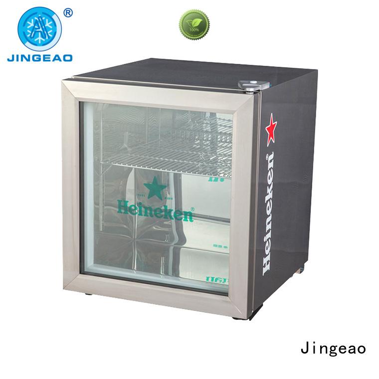 Jingeao beverage glass front beverage fridge improvement for bakery