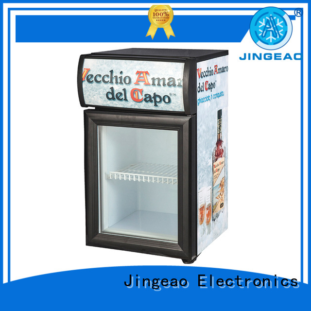 Jingeao high-reputation glass front fridge type for hotel