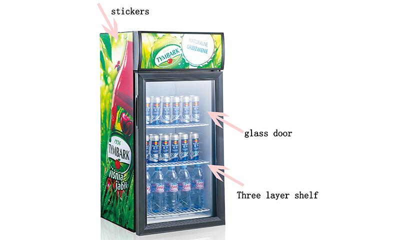 Jingeao fridge open display refrigerator cost for supermarket-1