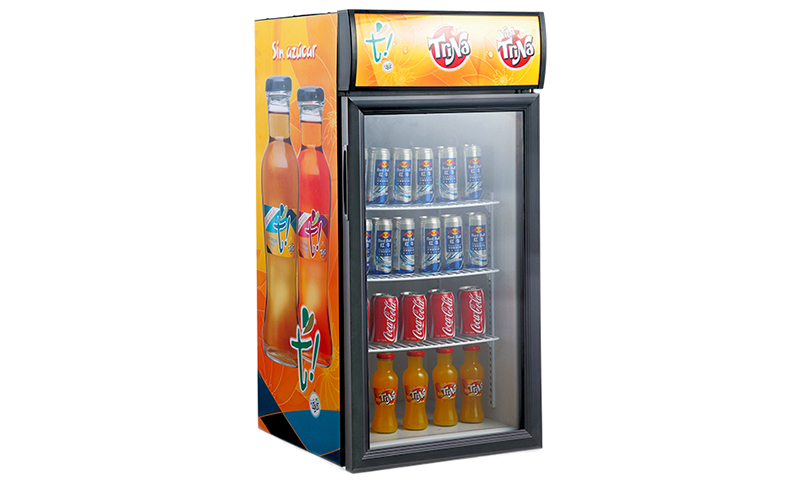 Customized countertop display cooler beverage supply for bakery-1