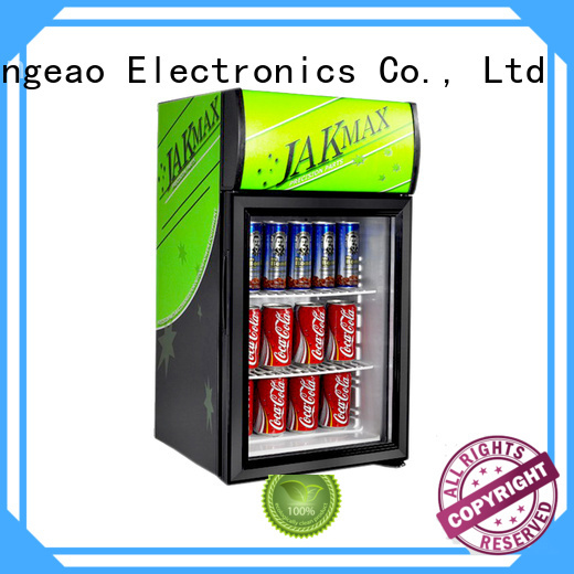 Jingeao cooler glass front fridge certifications for supermarket