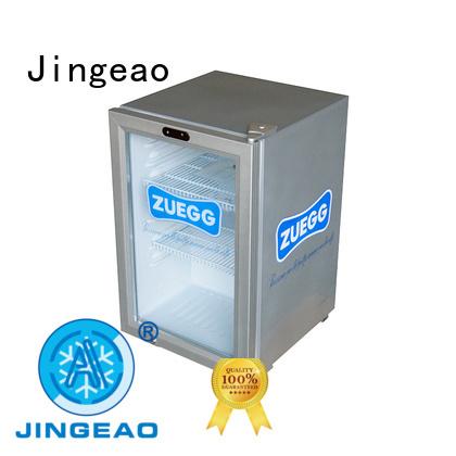 Jingeao cooler display chiller certifications for supermarket