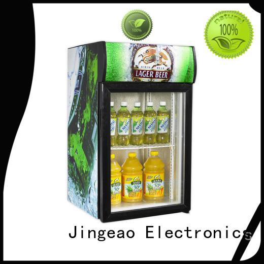 Jingeao cooler beverage fridge with glass door type for supermarket