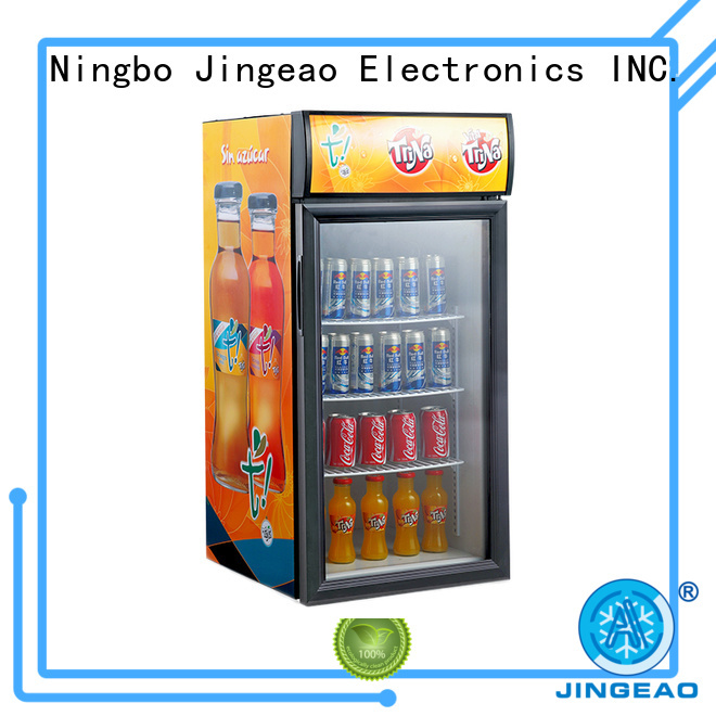 Jingeao power saving commercial drinks fridge research for supermarket