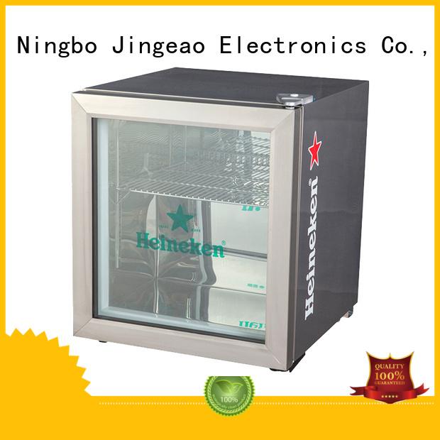 Jingeao power saving glass door beverage cooler fridge for company