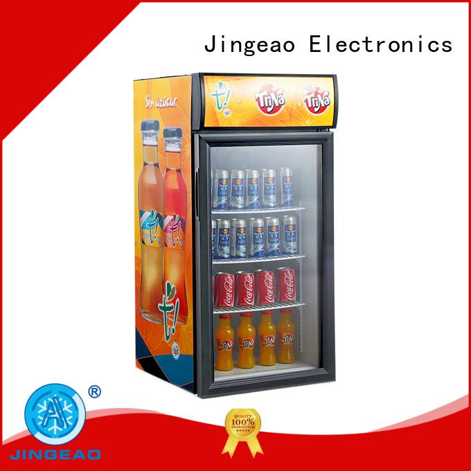 Jingeao cooler glass door beverage cooler certifications for restaurant