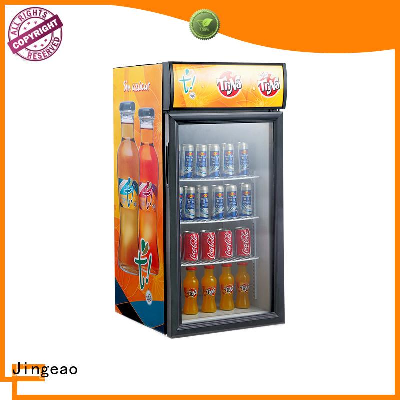 Jingeao beverage glass front fridge sensing for restaurant