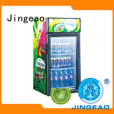 Jingeao popular retail display fridge type for market