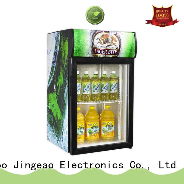 Jingeao power saving glass door refrigerator for-sale for hotel