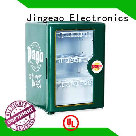 Jingeao dazzing glass door refrigerator environmentally friendly for bar