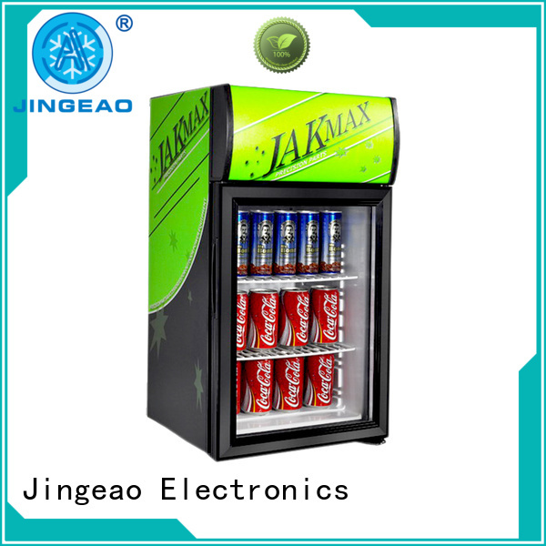 Jingeao superb retail display fridge certifications for hotel