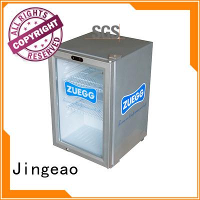 Jingeao cooler glass door refrigerator improvement for company