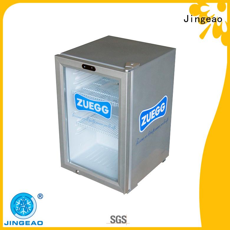 Jingeao beverage glass front fridge type for bakery
