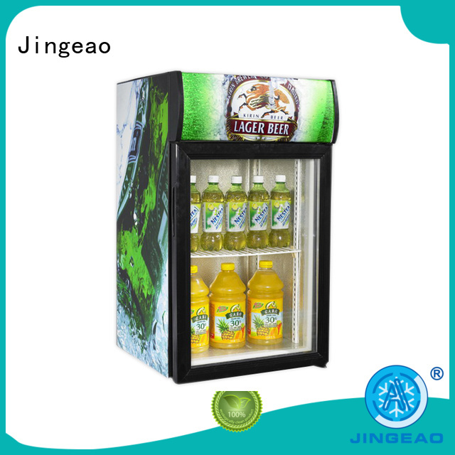 Jingeao fridge glass door refrigerator workshops for company