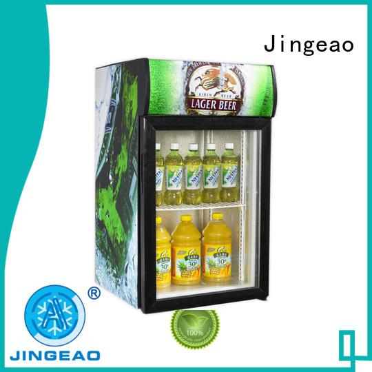 Jingeao cooler glass front fridge environmentally friendly for bakery
