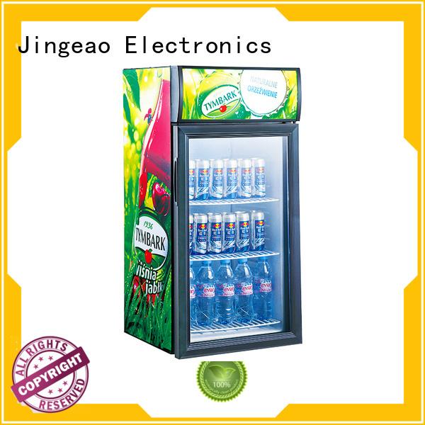 cooler glass display fridge type for bar Jingeao