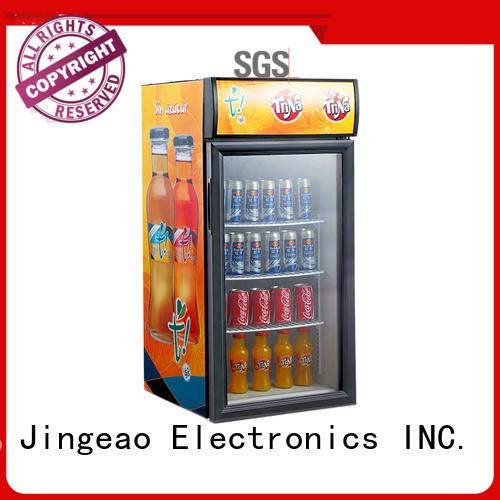 Jingeao power saving display refrigerators protection for bakery
