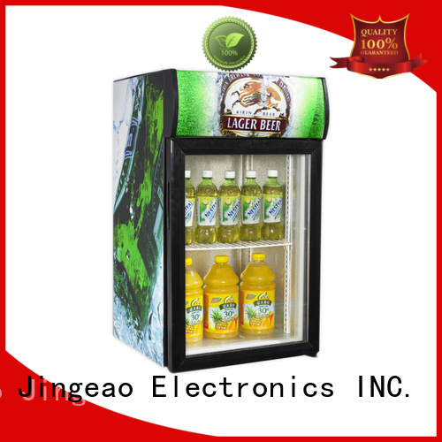 Jingeao cool commercial display refrigerator marketing for wine