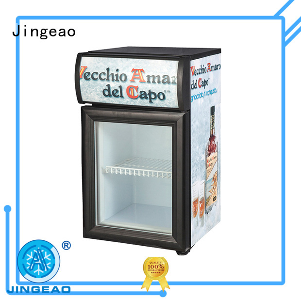 Jingeao cooler commercial drinks cooler management for bar