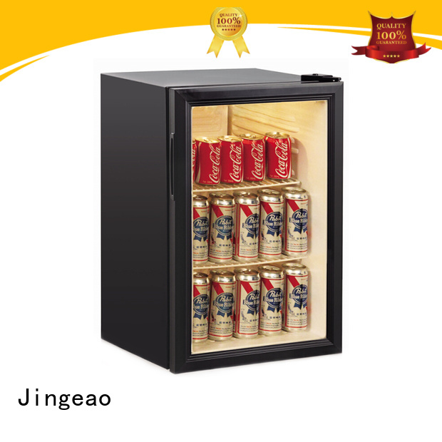 Jingeao dazzing glass front fridge environmentally friendly for company