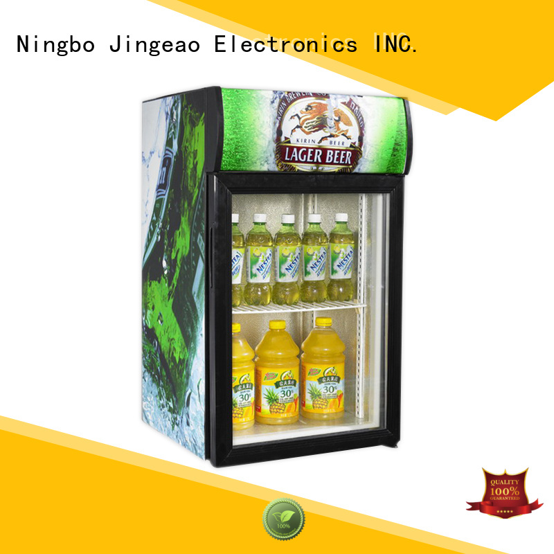 Jingeao dazzing commercial display fridge for sale management for bar