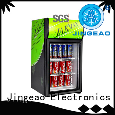 Jingeao cool commercial drinks refrigerator research for hotel
