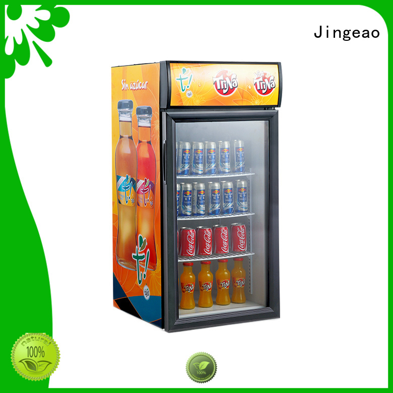 Jingeao high-reputation display refrigerator certifications for bakery