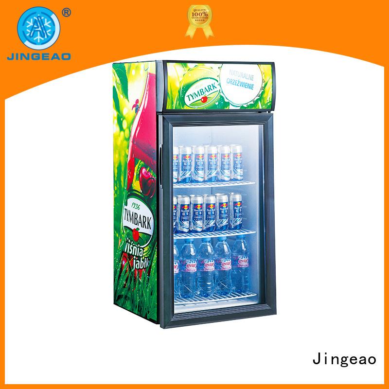 Jingeao fridge glass front fridge workshops for company