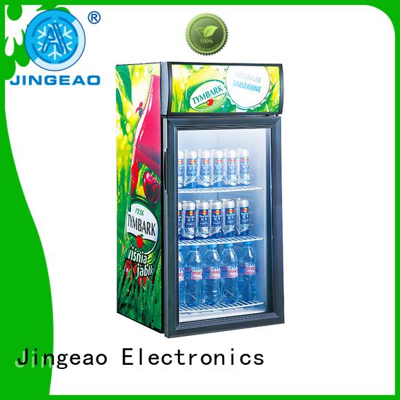 Jingeao popular glass door beverage cooler beverage for school