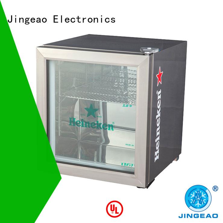 Jingeao power saving glass front beverage fridge package for bakery
