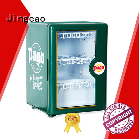 Jingeao superb glass front fridge package for wine