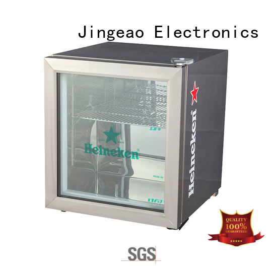 Jingeao dazzing glass door refrigerator certifications for restaurant