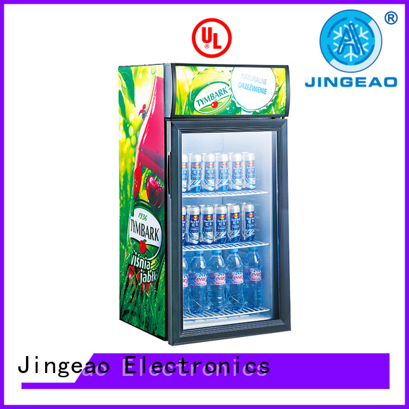 Jingeao dazzing beverage display coolers environmentally friendly for wine