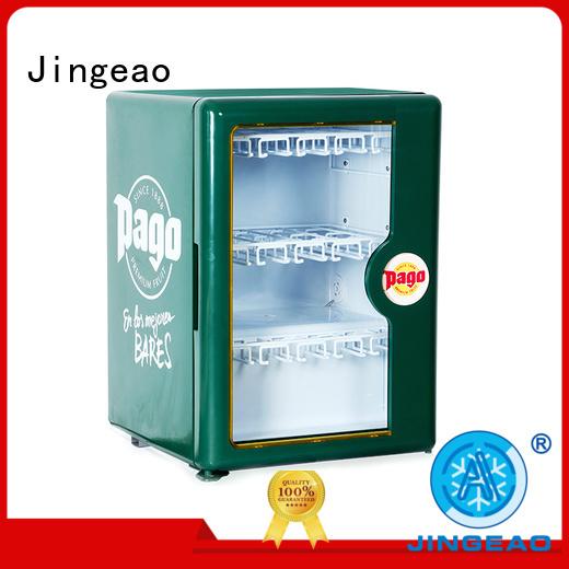 Jingeao cool glass front beverage fridge sensing for bakery