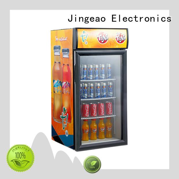 Jingeao energy saving beverage fridge with glass door improvement for bakery