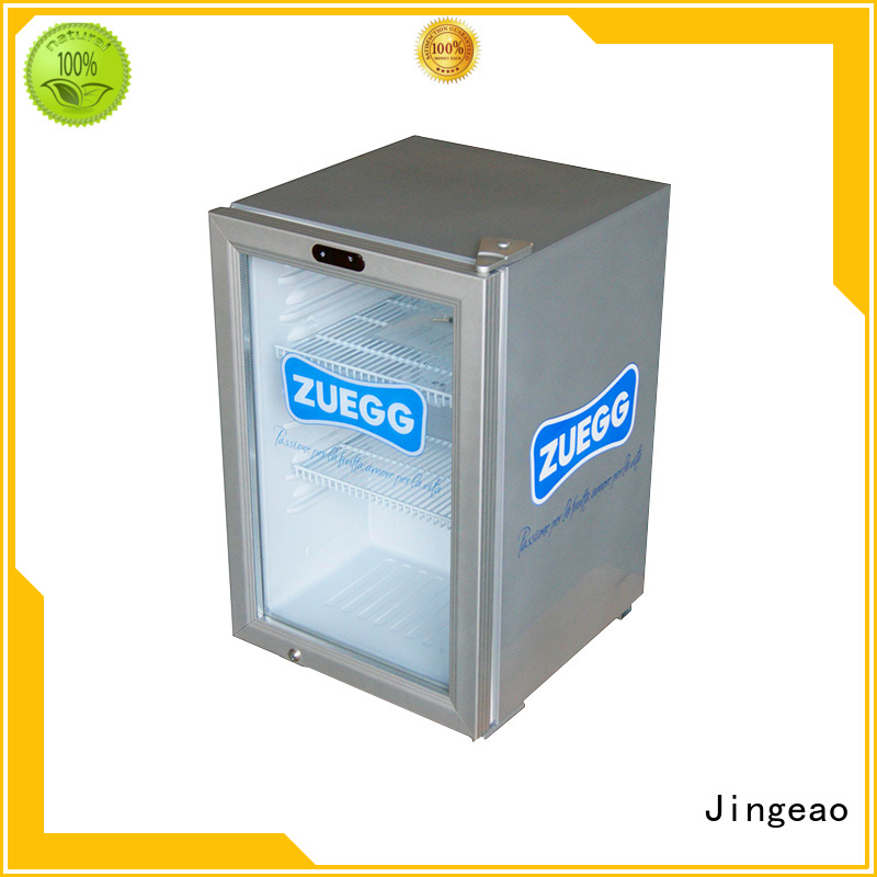 Jingeao beverage glass front fridge package for hotel