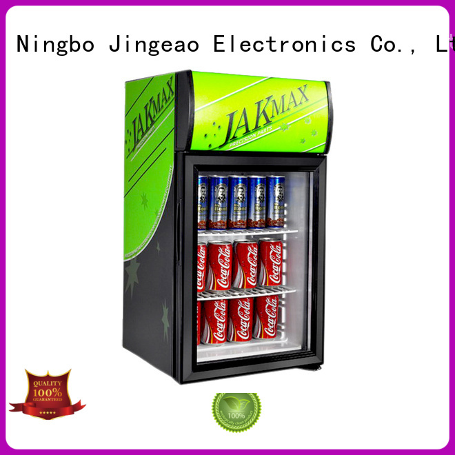 Jingeao cooler commercial display refrigerator for school