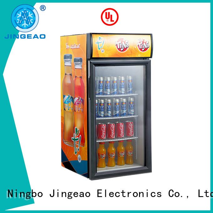 Jingeao dazzing display fridge price sensing for store