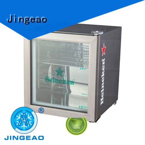 beverage glass display fridge fridge for company Jingeao