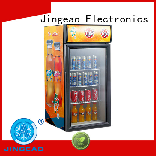 Jingeao energy saving commercial drinks display fridge cooler