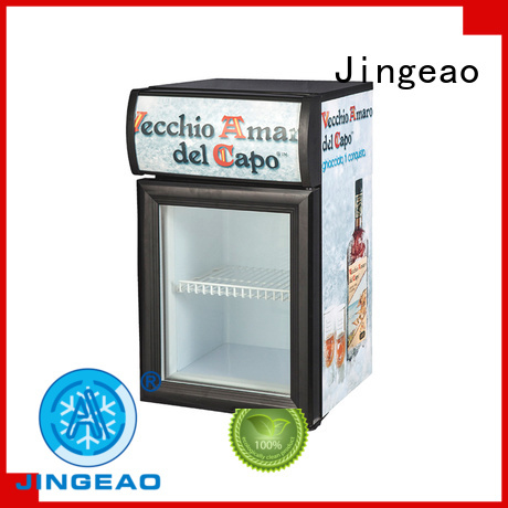 Jingeao beverage glass front fridge certifications for company