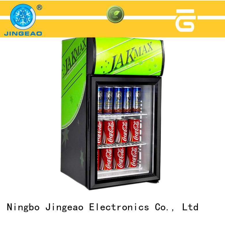 Jingeao energy saving glass door refrigerator constantly for supermarket