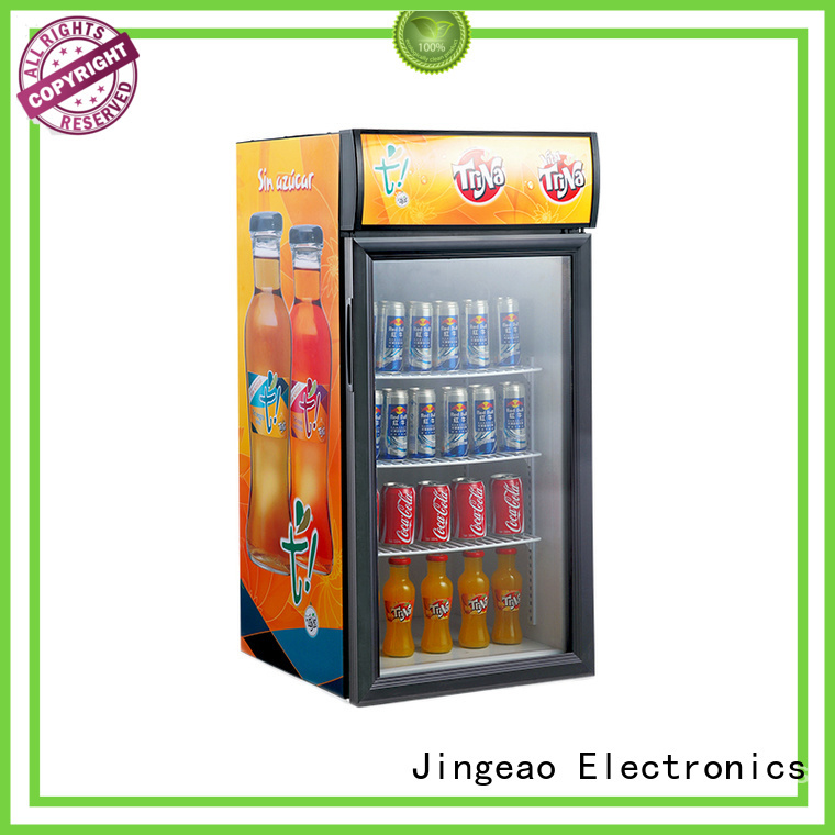 Jingeao cool glass front fridge environmentally friendly for wine