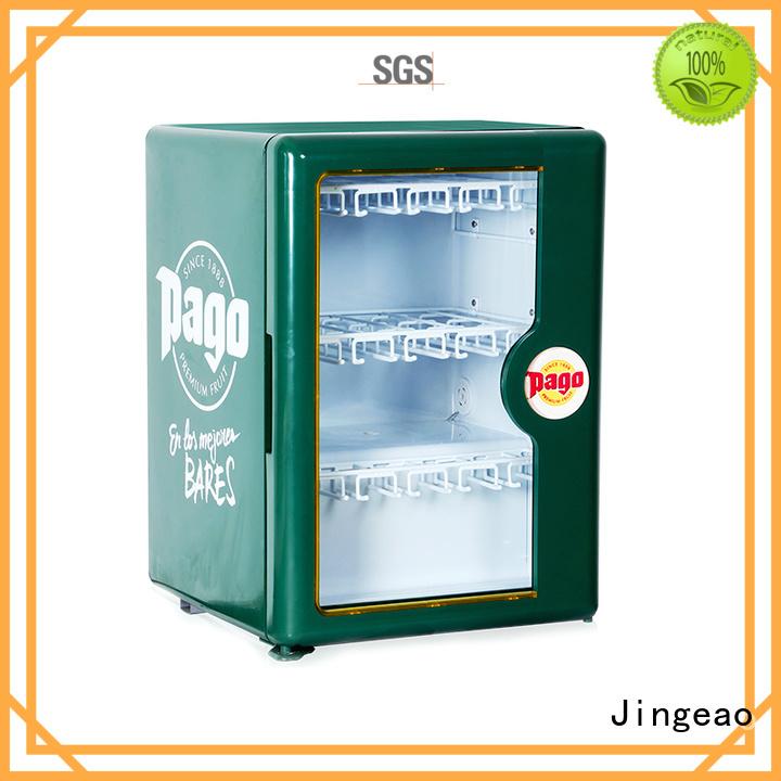 Jingeao cooler display fridge application for school