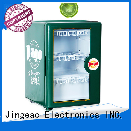 Jingeao power saving small display fridges for-sale for store