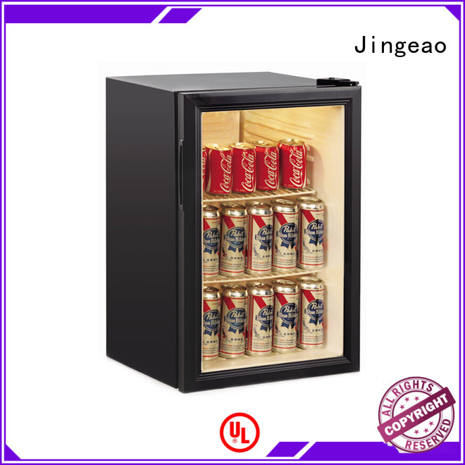 Jingeao good-looking glass front fridge package for bar