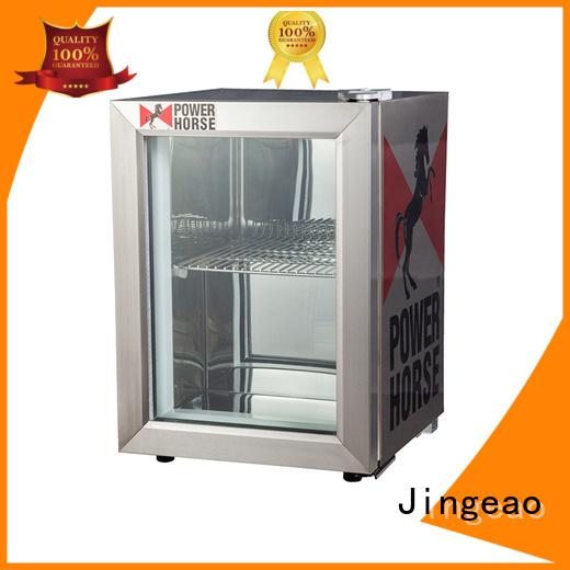 Jingeao good-looking glass front fridge beverage for bar